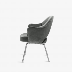 Knoll Saarinen Executive Arm Chairs in Graphite Velvet for Knoll Set of 6 - 2076689