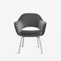 Knoll Saarinen Executive Arm Chairs in Graphite Velvet for Knoll Set of 6 - 2076690