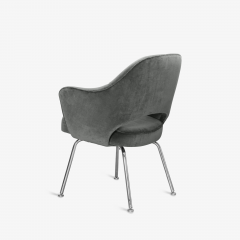 Knoll Saarinen Executive Arm Chairs in Graphite Velvet for Knoll Set of 6 - 2076691