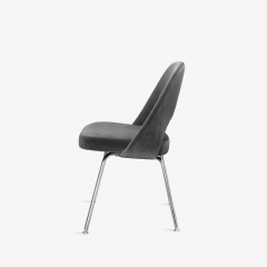 Knoll Saarinen Executive Armless Chairs for Knoll in Graphite Velvet by Set of 6 - 2076667