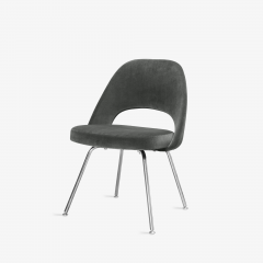 Knoll Saarinen Executive Armless Chairs for Knoll in Graphite Velvet by Set of 6 - 2076669