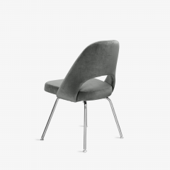 Knoll Saarinen Executive Armless Chairs for Knoll in Graphite Velvet by Set of 6 - 2076670