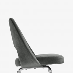 Knoll Saarinen Executive Armless Chairs for Knoll in Graphite Velvet by Set of 6 - 2076672