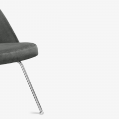 Knoll Saarinen Executive Armless Chairs for Knoll in Graphite Velvet by Set of 6 - 2076673