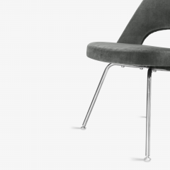 Knoll Saarinen Executive Armless Chairs for Knoll in Graphite Velvet by Set of 6 - 2076675
