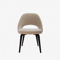 Knoll Saarinen Executive Armless Chairs in Mohair Walnut by Eero Saarinen for Knoll - 1796836