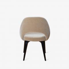 Knoll Saarinen Executive Armless Chairs in Mohair Walnut by Eero Saarinen for Knoll - 1796838