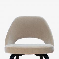 Knoll Saarinen Executive Armless Chairs in Mohair Walnut by Eero Saarinen for Knoll - 1796840