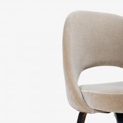 Knoll Saarinen Executive Armless Chairs in Mohair Walnut by Eero Saarinen for Knoll - 1796841