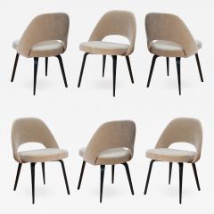 Knoll Saarinen Executive Armless Chairs in Mohair Walnut by Eero Saarinen for Knoll - 1798666