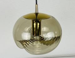 Koch Lowy AMBER GLASS PENDANT LAMP BY KOCH LOWY FOR PEILL AND PUTZLER 1960 - 2012073