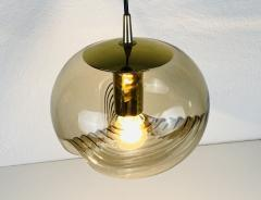 Koch Lowy AMBER GLASS PENDANT LAMP BY KOCH LOWY FOR PEILL AND PUTZLER 1960 - 2012076