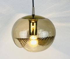 Koch Lowy AMBER GLASS PENDANT LAMP BY KOCH LOWY FOR PEILL AND PUTZLER 1960 - 2012078