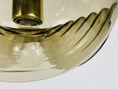 Koch Lowy AMBER GLASS PENDANT LAMP BY KOCH LOWY FOR PEILL AND PUTZLER 1960 - 2012089