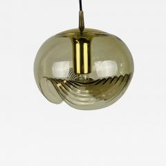 Koch Lowy AMBER GLASS PENDANT LAMP BY KOCH LOWY FOR PEILL AND PUTZLER 1960 - 2013042