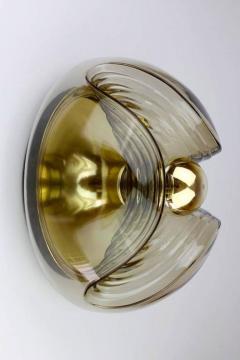 Koch Lowy Koch Lowy Amber Glass Wave Sconces - 885313