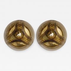 Koch Lowy Koch Lowy Amber Glass Wave Sconces - 885874