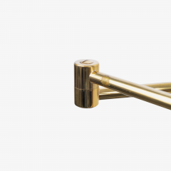 Koch Lowy Koch Lowy Swing Arm Articulating Brass Reading Wall Light Lamp - 1769645