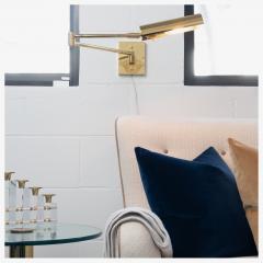 Koch Lowy Koch Lowy Swing Arm Articulating Brass Reading Wall Light Lamp - 1769651