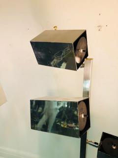 Koch Lowy Pair of Koch Lowy Modernist Polished Chrome Floor Lamps - 739211