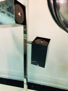 Koch Lowy Pair of Koch Lowy Modernist Polished Chrome Floor Lamps - 739212