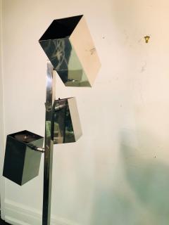 Koch Lowy Pair of Koch Lowy Modernist Polished Chrome Floor Lamps - 739215