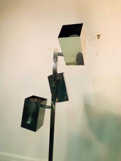 Koch Lowy Pair of Koch Lowy Modernist Polished Chrome Floor Lamps - 739216