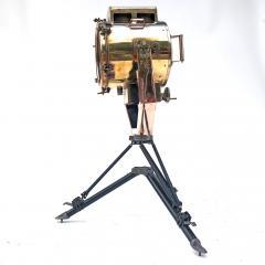 Koito Ltd Copper Brass 1980s Koito Searchlight on British MOD Tripod - 1117539