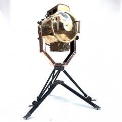 Koito Ltd Copper Brass 1980s Koito Searchlight on British MOD Tripod - 1117541