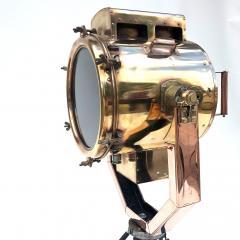 Koito Ltd Copper Brass 1980s Koito Searchlight on British MOD Tripod - 1117542