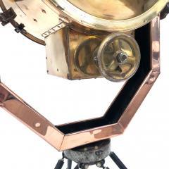 Koito Ltd Copper Brass 1980s Koito Searchlight on British MOD Tripod - 1117543
