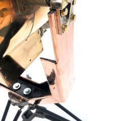 Koito Ltd Copper Brass 1980s Koito Searchlight on British MOD Tripod - 1117547
