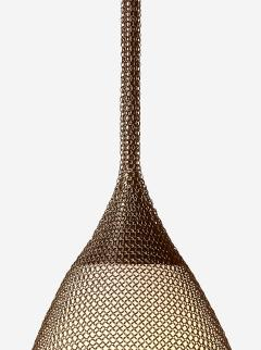 Konekt Armor Pendant Light in Oil Rubbed Bronze with Hand Blown Glass and Chainmail - 957697