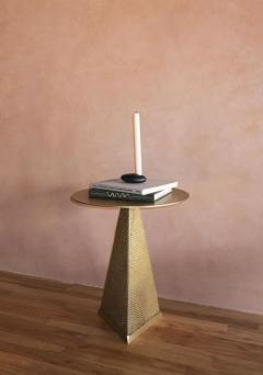 Konekt Armor Triangle Side Table in Satin Brass - 1055226