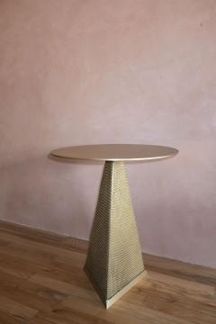 Konekt Armor Triangle Side Table in Satin Brass - 1055227