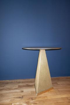 Konekt Armor Triangle Side Table in Satin Brass - 1055229