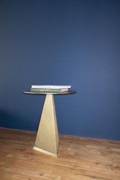Konekt Armor Triangle Side Table in Satin Brass - 1055231