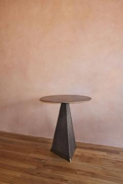 Konekt Armor Triangle Side Table in Satin Brass - 1055232