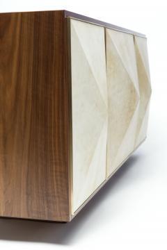 Konekt Pyramid Sideboard with Walnut Parchment and Brass by Konekt - 450777