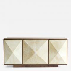 Konekt Pyramid Sideboard with Walnut Parchment and Brass by Konekt - 451069