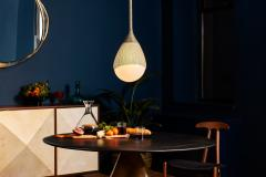 Konekt Teardrop Pendant in Oil Rubbed Bronze with Hand Blown Glass - 957728