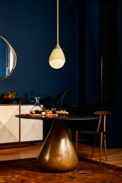 Konekt Teardrop Pendant with Hand Blown Glass and Brass - 957739