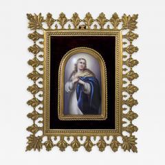 Konigliche Porzellan Manufaktur Berlin KPM Porcelain Plaque Mary Magdalene  - 174954