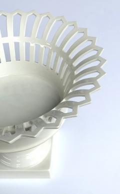 Konigliche Porzellan Manufaktur KPM Good Pair of German KPM White glazed Pierced Lattice Porcelain Compotes - 1448012