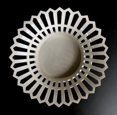 Konigliche Porzellan Manufaktur KPM Good Pair of German KPM White glazed Pierced Lattice Porcelain Compotes - 1448013
