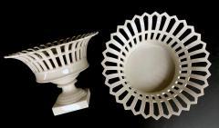 Konigliche Porzellan Manufaktur KPM Good Pair of German KPM White glazed Pierced Lattice Porcelain Compotes - 1448015
