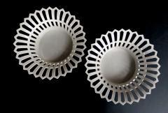 Konigliche Porzellan Manufaktur KPM Good Pair of German KPM White glazed Pierced Lattice Porcelain Compotes - 1448017