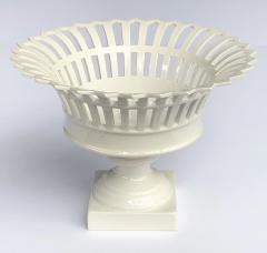 Konigliche Porzellan Manufaktur KPM Good Pair of German KPM White glazed Pierced Lattice Porcelain Compotes - 1448018