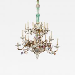 Konigliche Porzellan Manufaktur KPM KPM porcelain and gilt bronze chandelier - 1277475