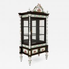 Konigliche Porzellan Manufaktur KPM Ormolu and KPM porcelain mounted display cabinet - 1257155